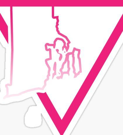 pink triangle rhode island Sticker