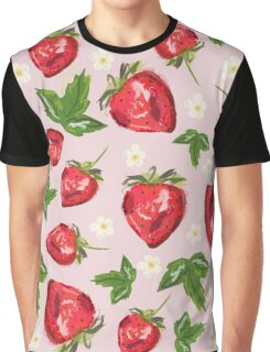 Strawberry Botanical Graphic T-Shirt