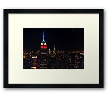Empire State Building at Night, New York Framed Print