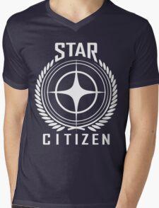 Star Citizen Crest Emblem Mens V-Neck T-Shirt