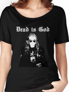 Dead is God, Mayhem Death Metal (White) Women's Relaxed Fit T-Shirt