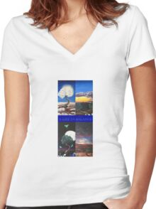 A lif in balance  Women's Fitted V-Neck T-Shirt
