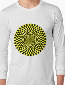 Op Art - Yellow and Black Long Sleeve T-Shirt