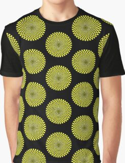Op Art - Yellow and Black Graphic T-Shirt