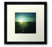 Circle in Square - medium format analog Hasselblad film photo Framed Print