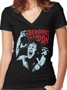 Beware The Moon Women's Fitted V-Neck T-Shirt
