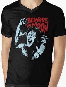 Beware The Moon Mens V-Neck T-Shirt