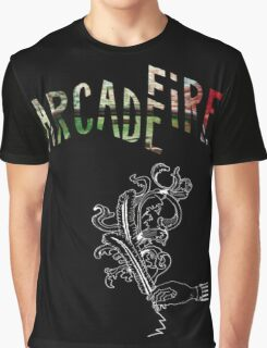 Arcade Fire Logos Graphic T-Shirt