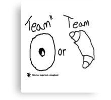 Team Bagel or Croissant Metal Print