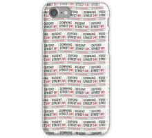 London Street Signs wallpaper iPhone Case/Skin