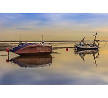 Boats on the waterfront at Hoylake Photographic Print