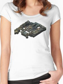 Isometric Train Map Women's Fitted Scoop T-Shirt