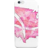 Watercolor Breast Cancer Map of the United States iPhone Case/Skin
