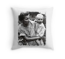 lost in poverty Throw Pillow