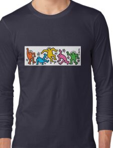Keith Haring Color People Long Sleeve T-Shirt