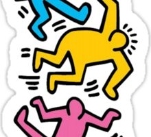 Keith Haring Color People Sticker