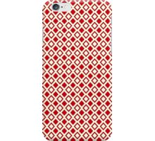 Red Triangles on White iPhone Case/Skin