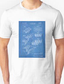 LEGO Construction Toy Blocks US Patent Art blueprint T-Shirt