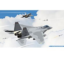 F-15Cs of the 123rd Fighter Squadron- Fighting Redhawks- Engage! Photographic Print