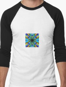 Bright contrast vortex Men's Baseball ¾ T-Shirt