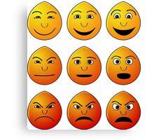 happy sad angry Canvas Print