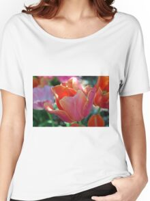 Apricot Tulip Women's Relaxed Fit T-Shirt