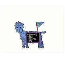 Josie the Tea Dog Art Print