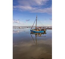 Boat on the waterfront Photographic Print