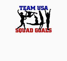 USA Gymnastics 2016 Rio: SQUAD GOALS Women's Fitted V-Neck T-Shirt