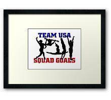 USA Gymnastics 2016 Rio: SQUAD GOALS Framed Print