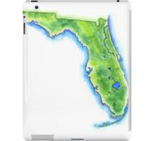 Hand Painted Watercolor Map of the US State of Florida  iPad Case/Skin