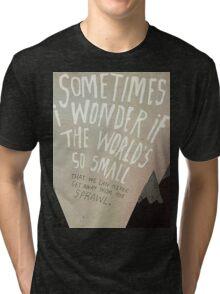 Arcade Fire Lyrics Tri-blend T-Shirt