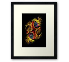 Double Or Too Many - Purple/Black Framed Print