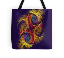 Double Or Too Many - Purple/Black Tote Bag