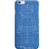 LEGO Minifigure US Patent Art Mini Figure blueprint iPhone Case/Skin