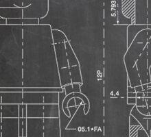 LEGO Minifigure US Patent Art Mini Figure blackboard Sticker