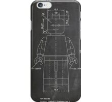 LEGO Minifigure US Patent Art Mini Figure blackboard iPhone Case/Skin