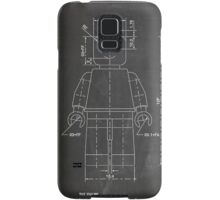 LEGO Minifigure US Patent Art Mini Figure blackboard Samsung Galaxy Case/Skin