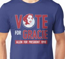 Gracie Allen for President Unisex T-Shirt