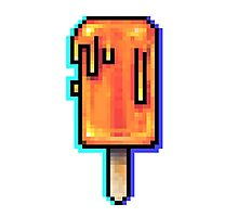 8bit Pixel Art Summer Popsicle Photographic Print