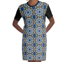 Barbwire Bloom Graphic T-Shirt Dress