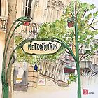 Paris Metropolitan Sign by Jennie Kessinger