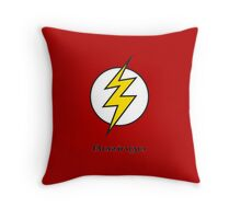 Flash Bam Bazinga! Throw Pillow