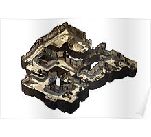 Dust 2 Isometric Map Poster
