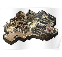 Cache Isometric Map Poster