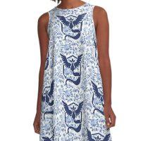 Team Mystic, Floral A-Line Dress