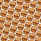 Turkey Club On White Pattern by KellyGilleran