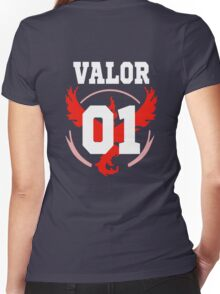 TEAM VALOR - Jersey Women's Fitted V-Neck T-Shirt