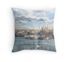 Istanbul Watercolor Print Throw Pillow