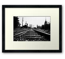 RAILROAD B/W Framed Print